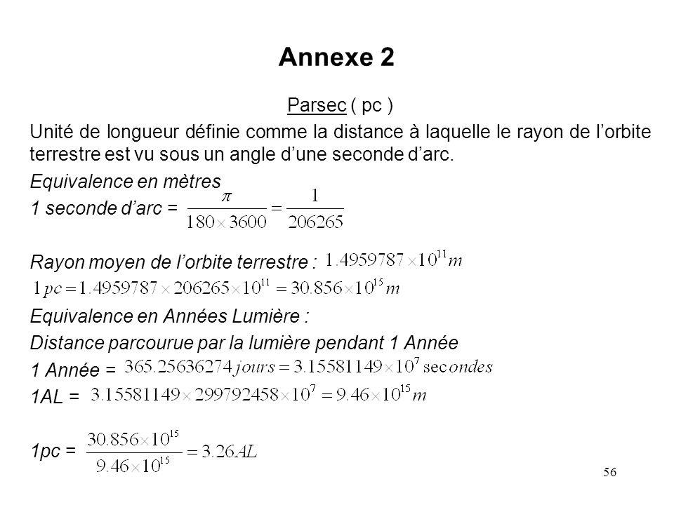 Annexe 2 Parsec ( pc )