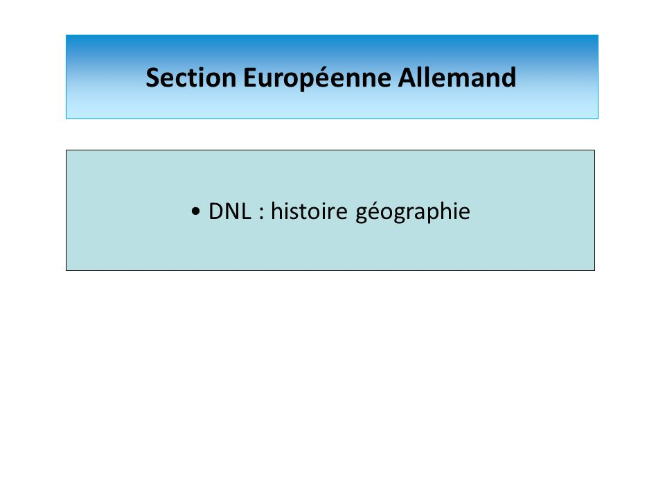 Section Européenne Allemand