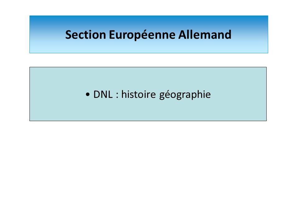 Section Européenne Allemand