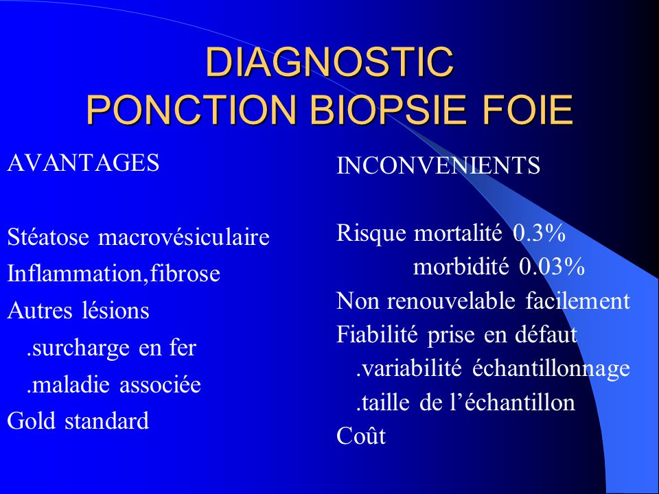 DIAGNOSTIC PONCTION BIOPSIE FOIE