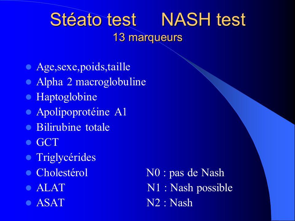 Stéato test NASH test 13 marqueurs
