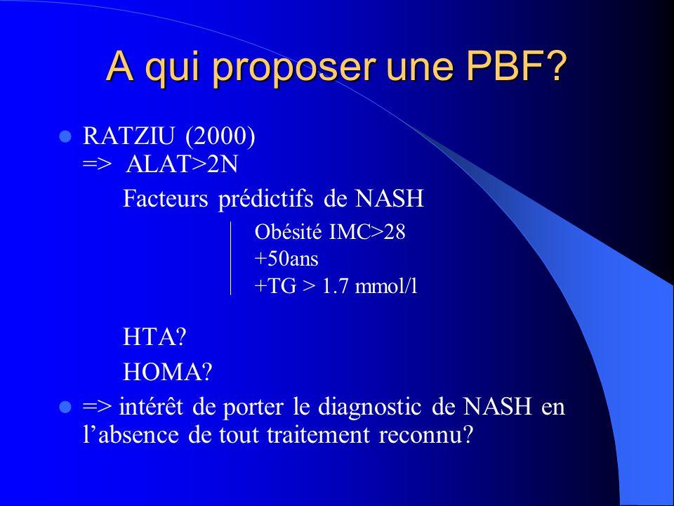 A qui proposer une PBF RATZIU (2000) => ALAT>2N