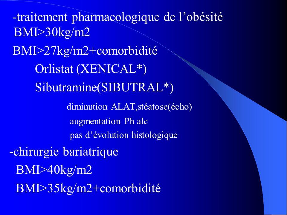 -traitement pharmacologique de l'obésité BMI>30kg/m2