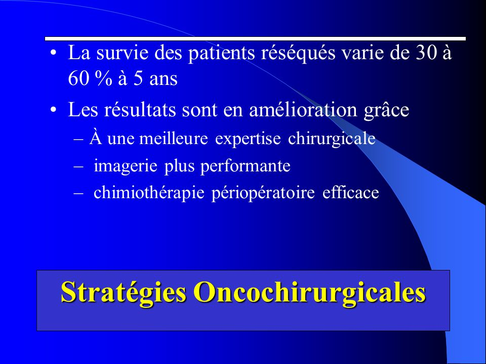 Stratégies Oncochirurgicales