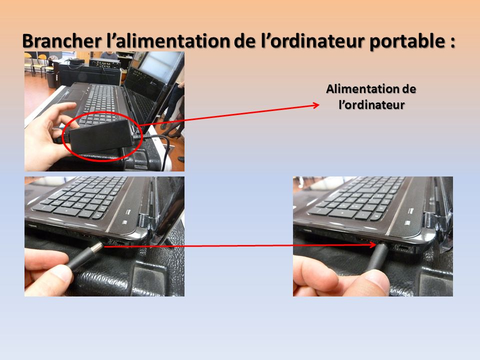 Alimentation de l'ordinateur