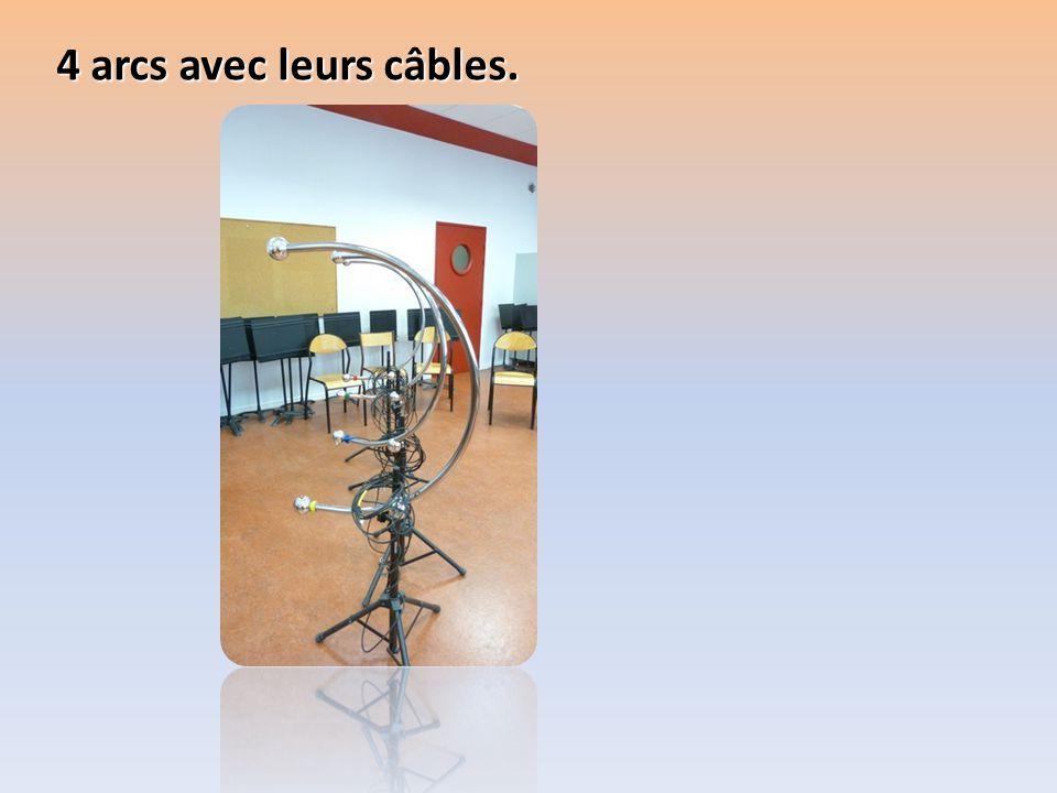 4 arcs avec leurs câbles.