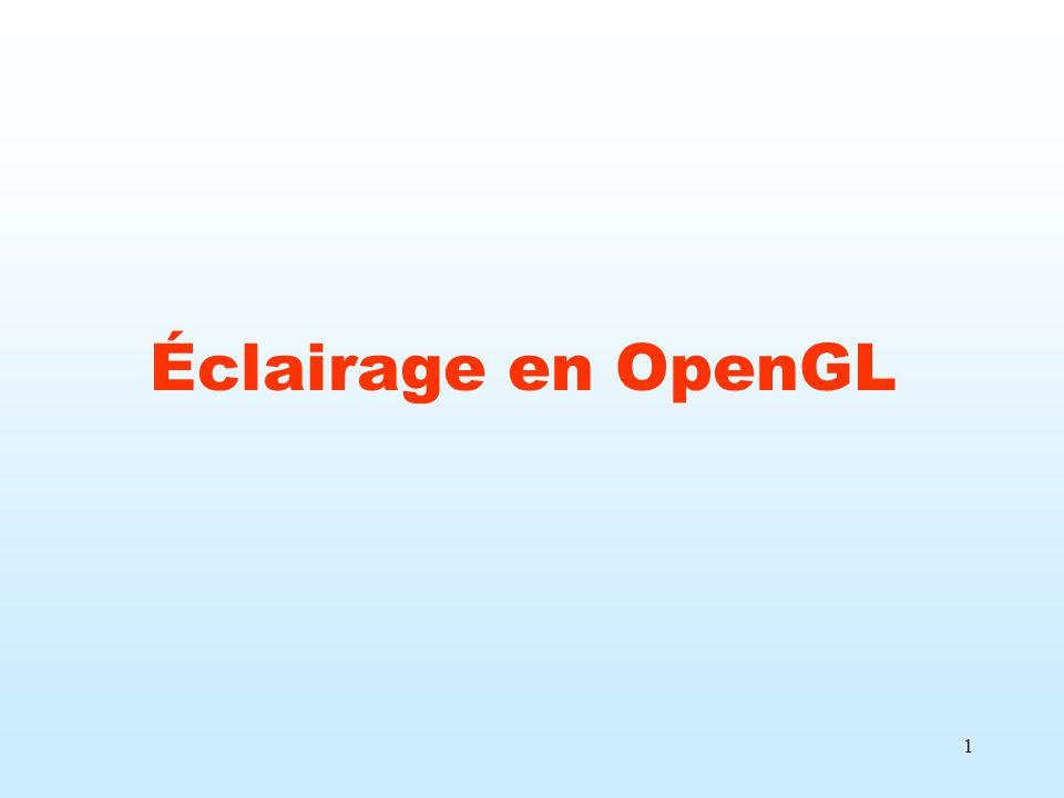Éclairage en OpenGL