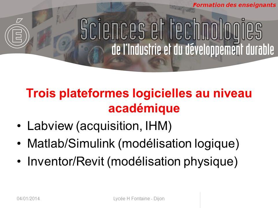 Trois plateformes logicielles au niveau académique