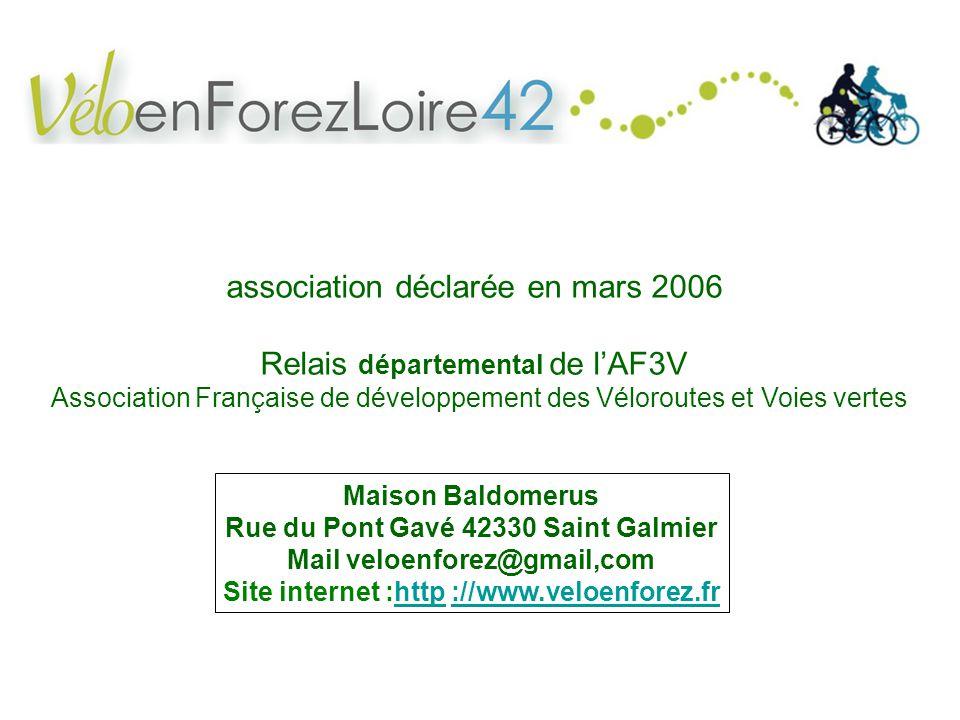 association déclarée en mars 2006 Relais départemental de l'AF3V