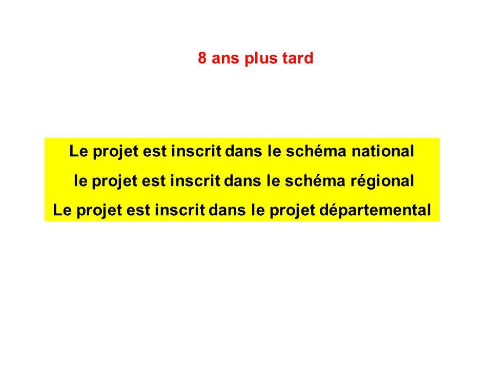 Le projet est inscrit dans le schéma national