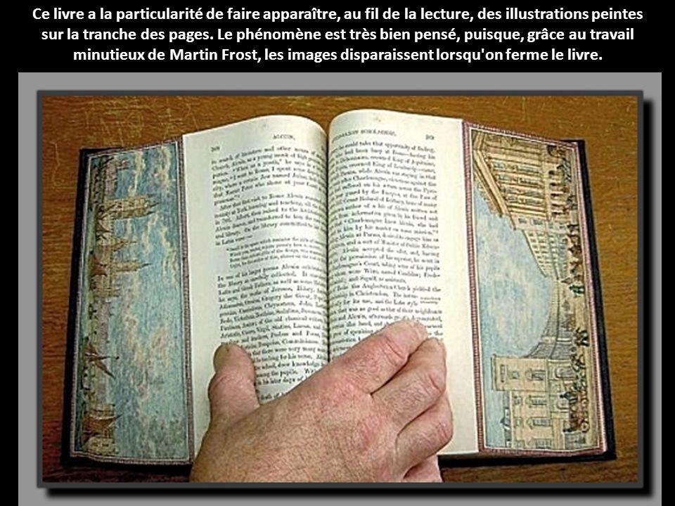Ce livre a la particularité de faire apparaître, au fil de la lecture, des illustrations peintes