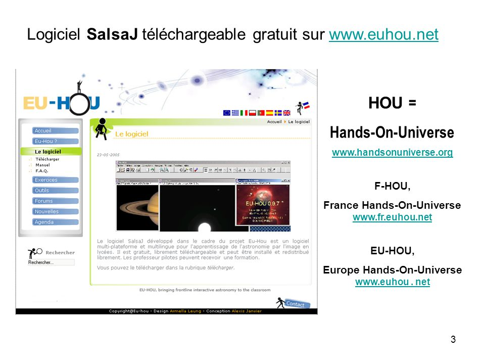 Logiciel SalsaJ téléchargeable gratuit sur www.euhou.net