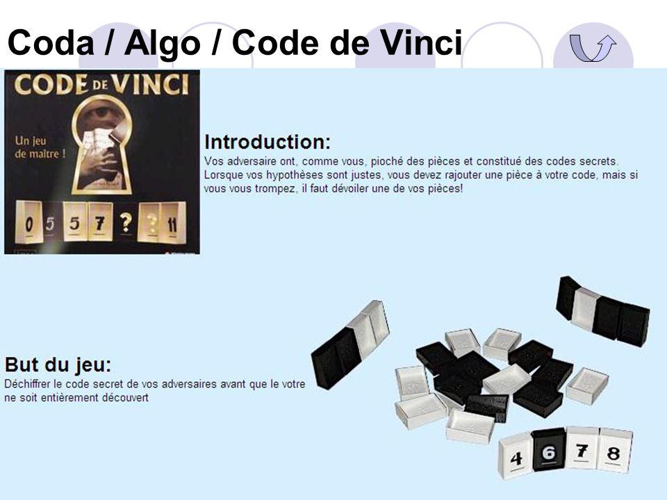 Coda / Algo / Code de Vinci