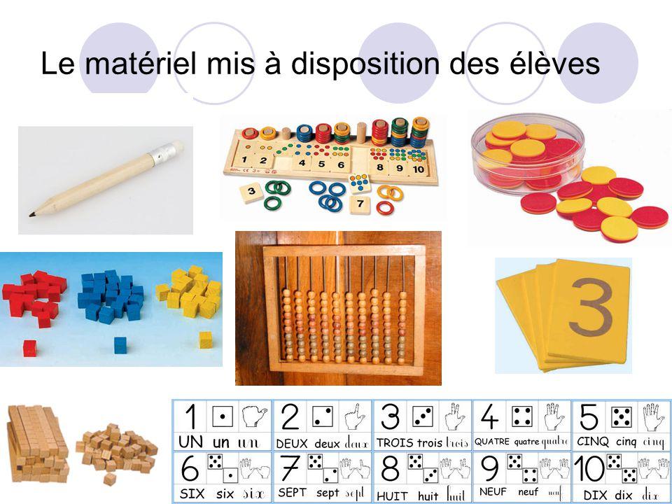 Le matériel mis à disposition des élèves