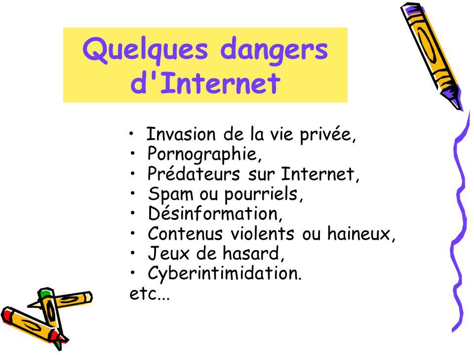 Quelques dangers d Internet