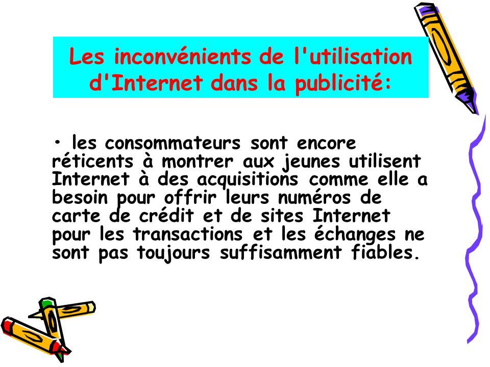 Les inconvénients de l utilisation d Internet dans la publicité: