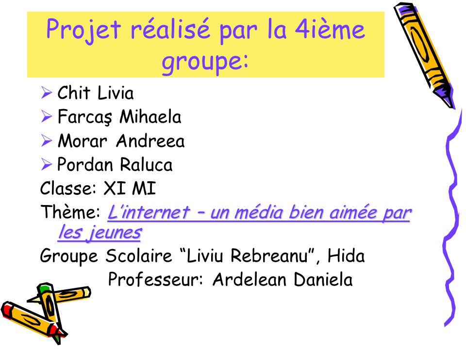 Projet réalisé par la 4ième groupe: