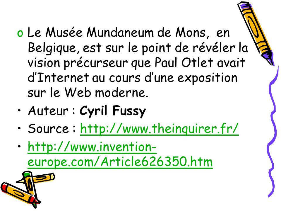 Le Musée Mundaneum de Mons, en Belgique, est sur le point de révéler la vision précurseur que Paul Otlet avait d'Internet au cours d'une exposition sur le Web moderne.
