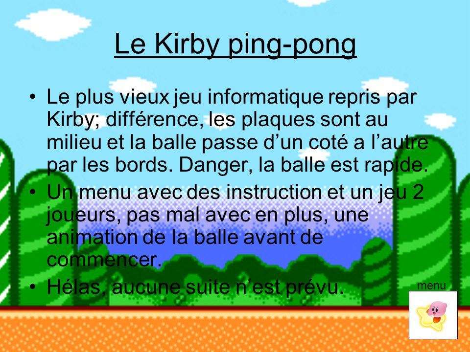 Le Kirby ping-pong
