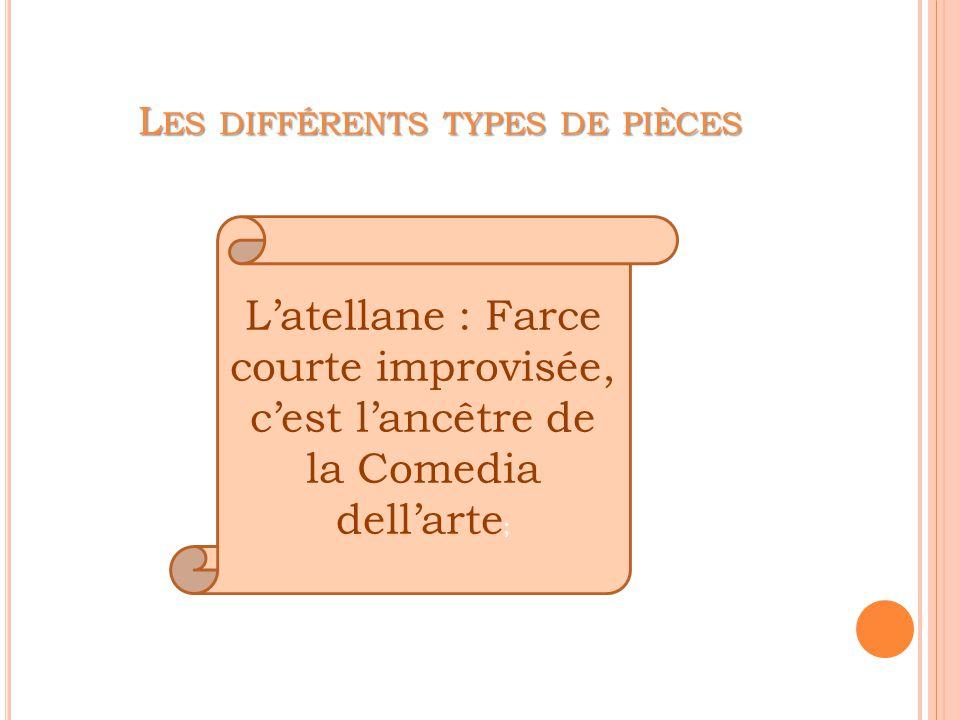 Les différents types de pièces