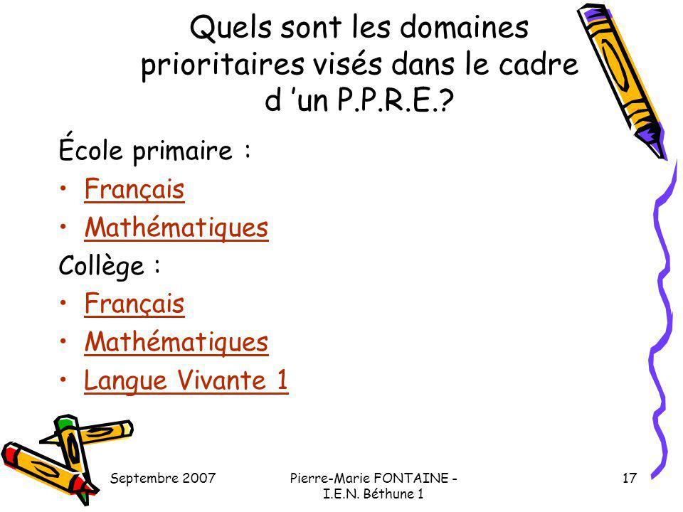 Pierre-Marie FONTAINE - I.E.N. Béthune 1