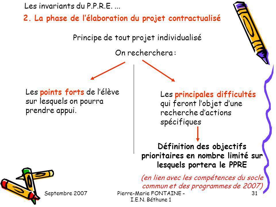 2. La phase de l'élaboration du projet contractualisé