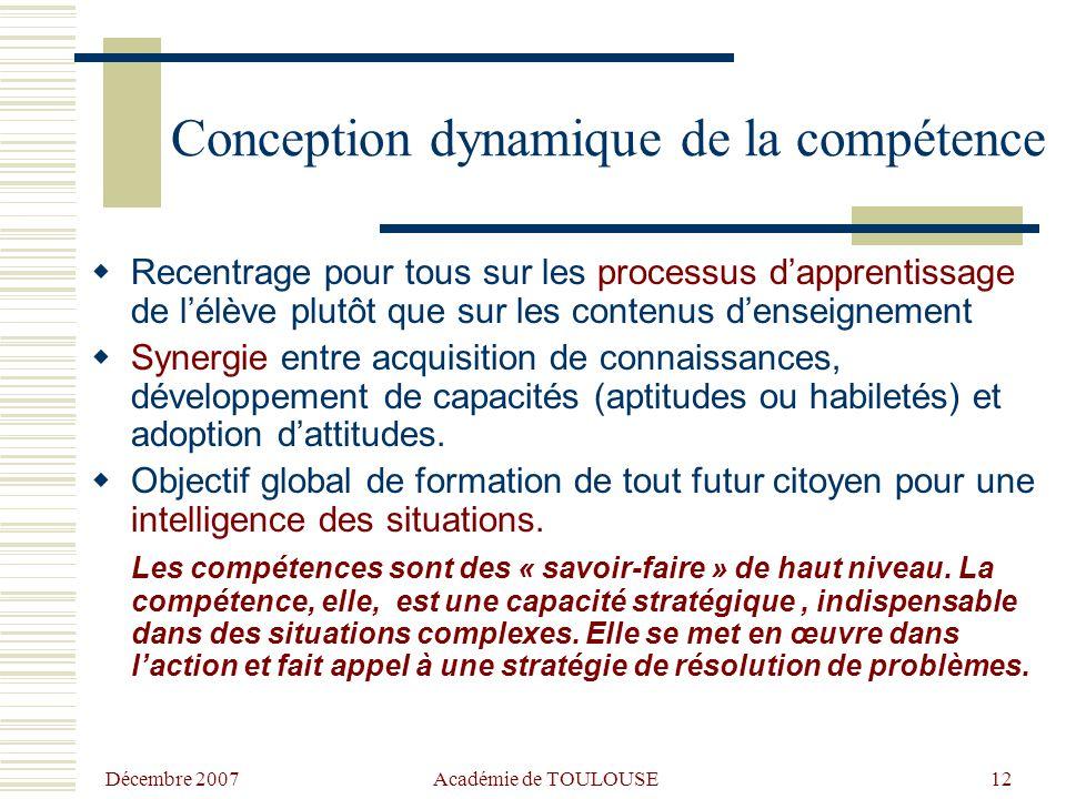 Conception dynamique de la compétence