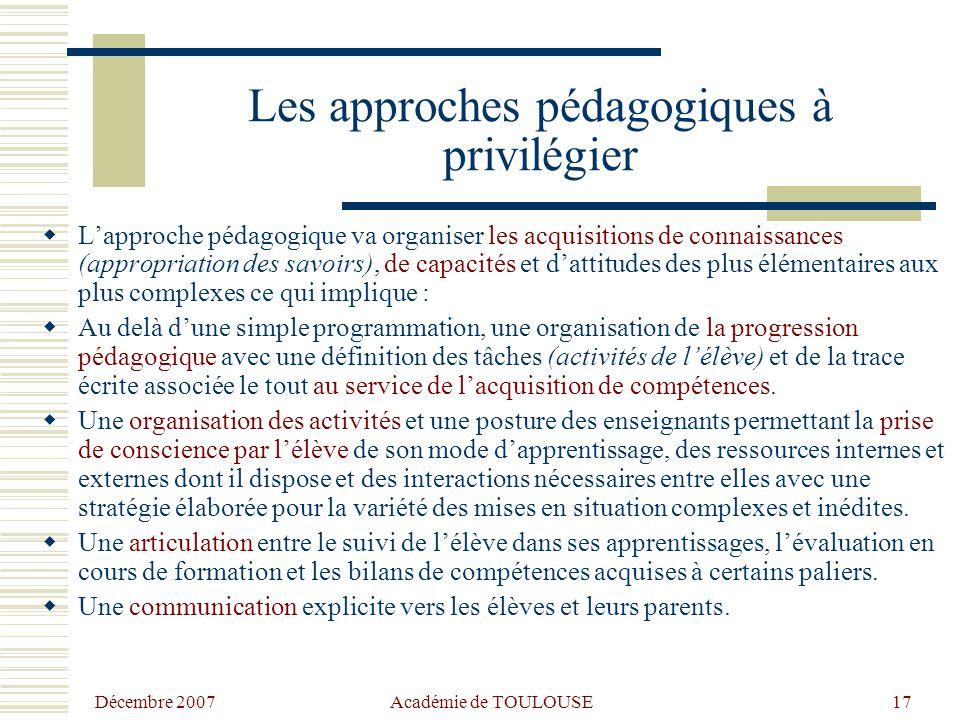 Les approches pédagogiques à privilégier
