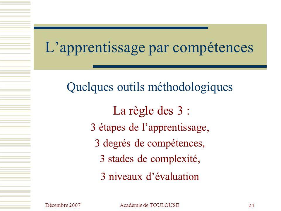 L'apprentissage par compétences