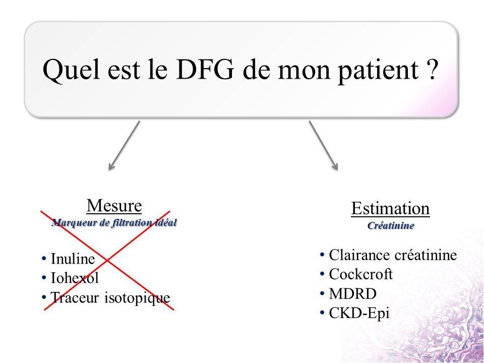 Quel est le DFG de mon patient