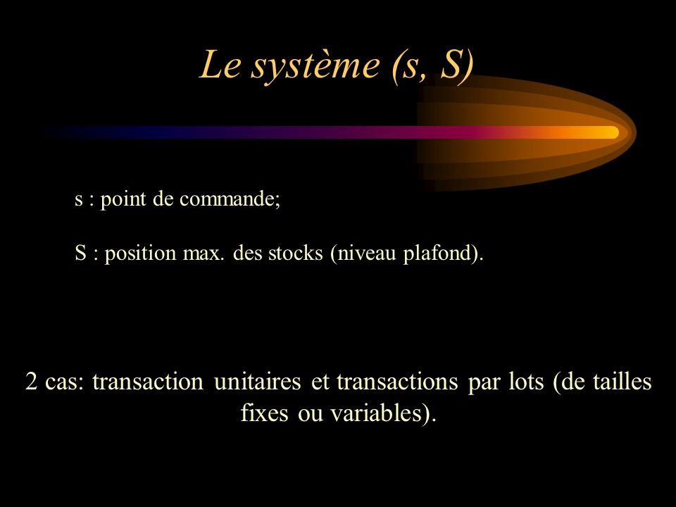 2 cas: transaction unitaires et transactions par lots (de tailles