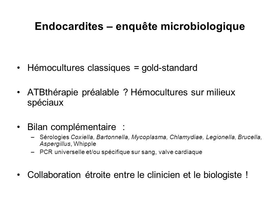 Endocardites – enquête microbiologique