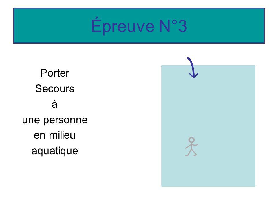 Épreuve N°3 Porter Secours à une personne en milieu aquatique