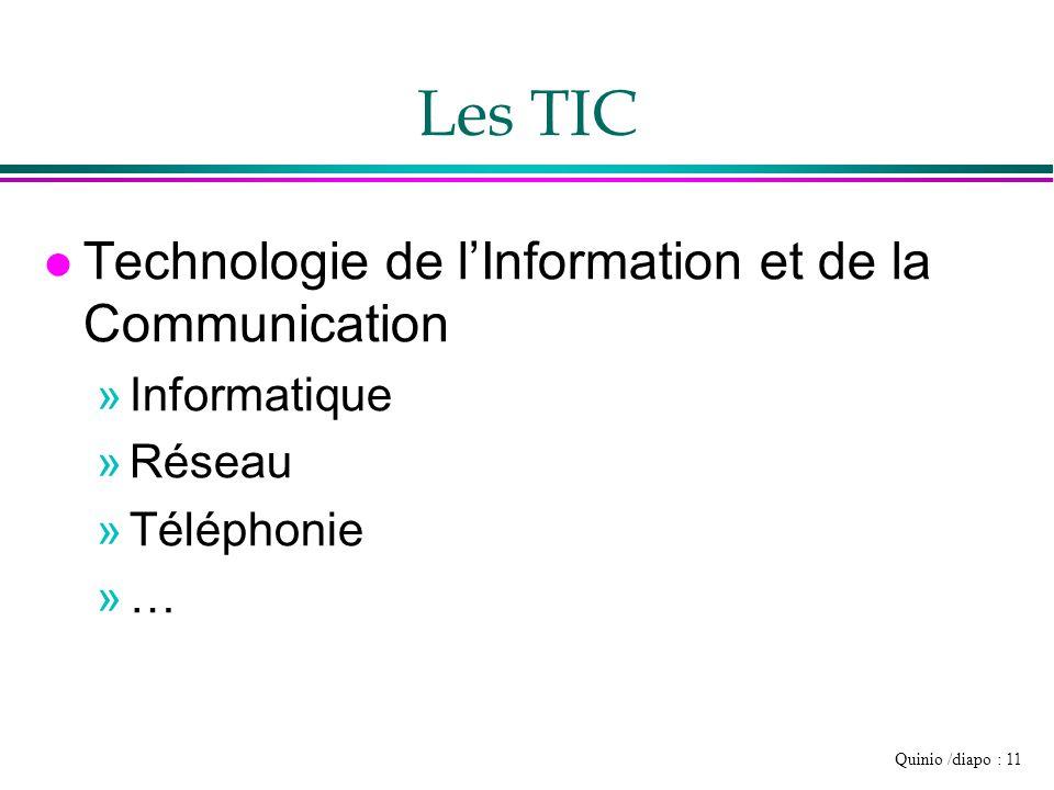 Les TIC Technologie de l'Information et de la Communication