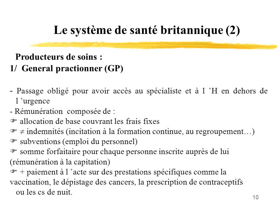 Le système de santé britannique (2)