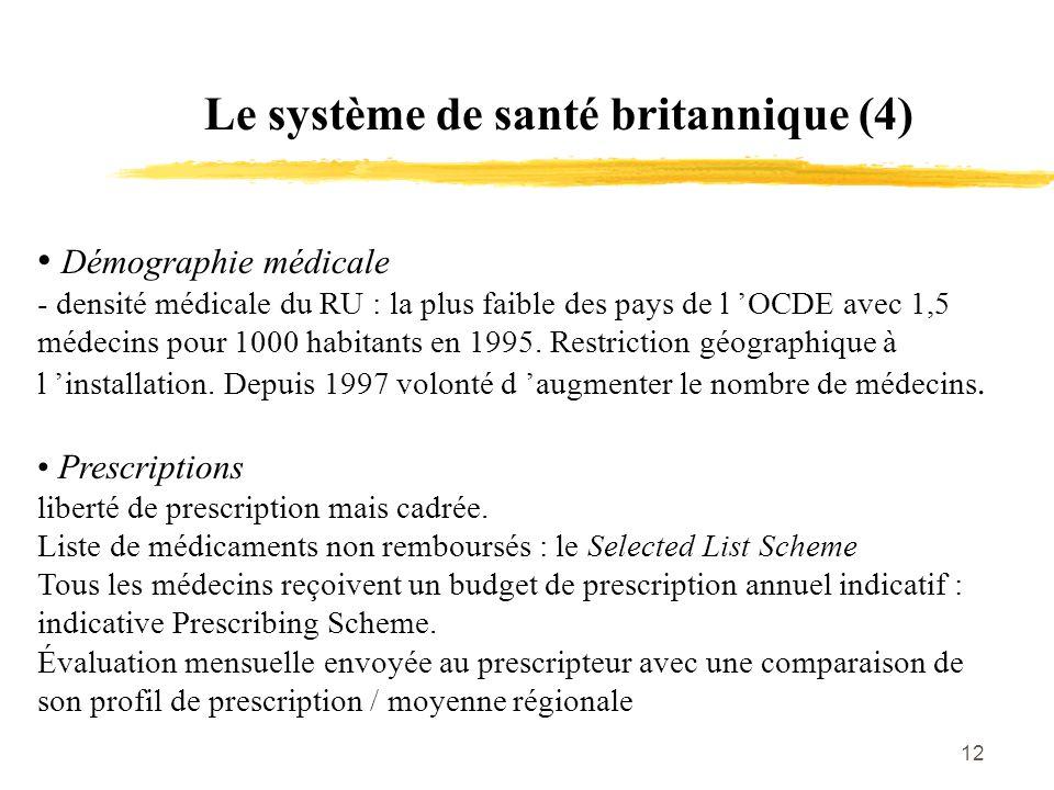 Le système de santé britannique (4)