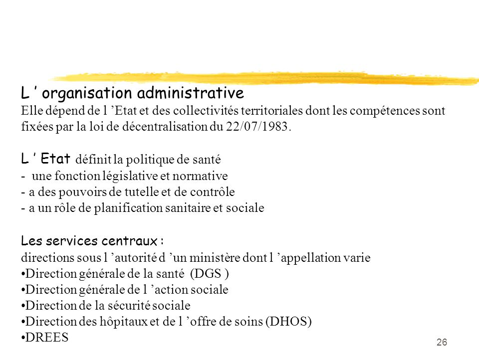 L ' organisation administrative