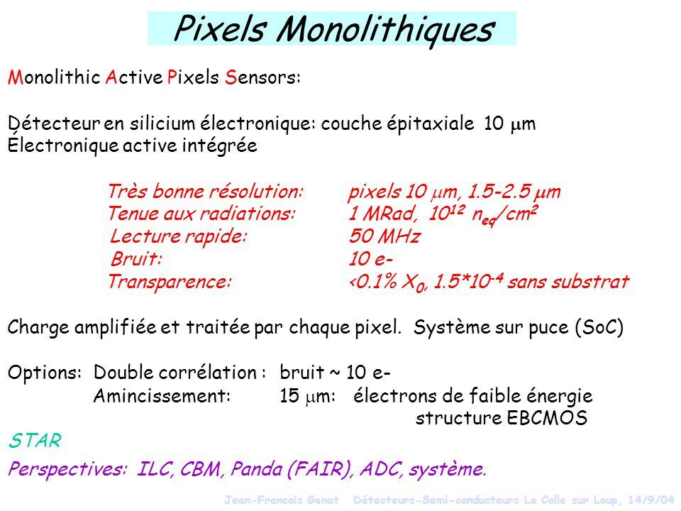 Pixels Monolithiques Monolithic Active Pixels Sensors: