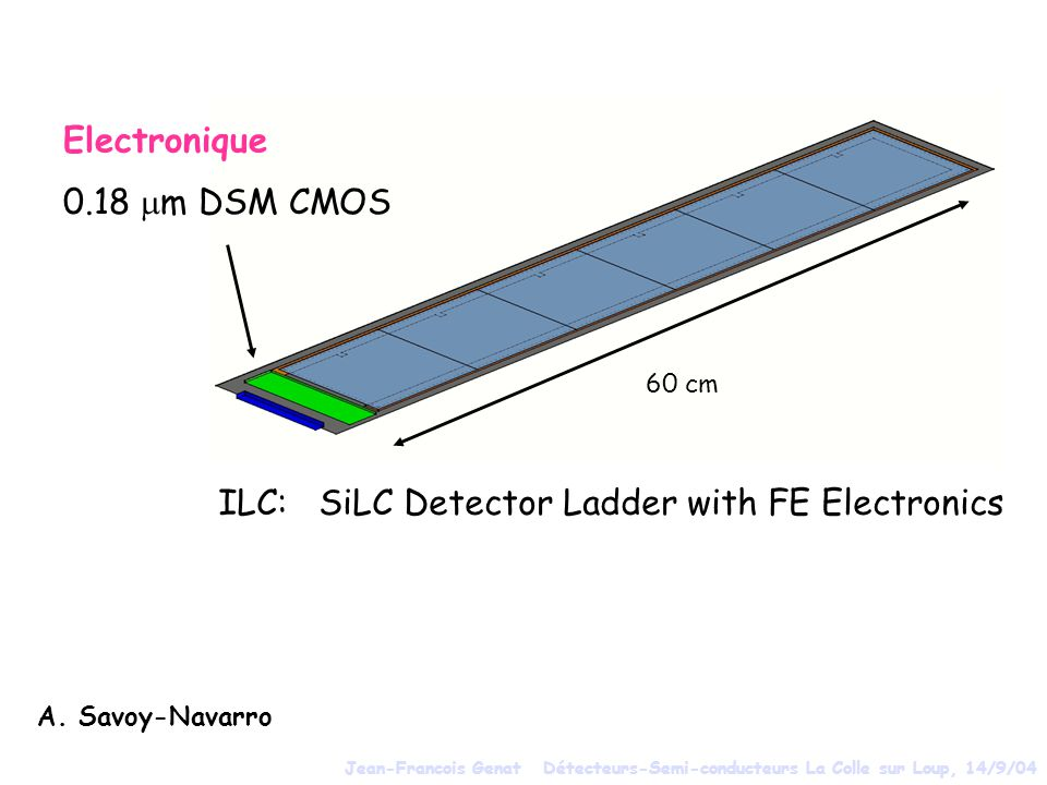 ILC: SiLC Detector Ladder with FE Electronics