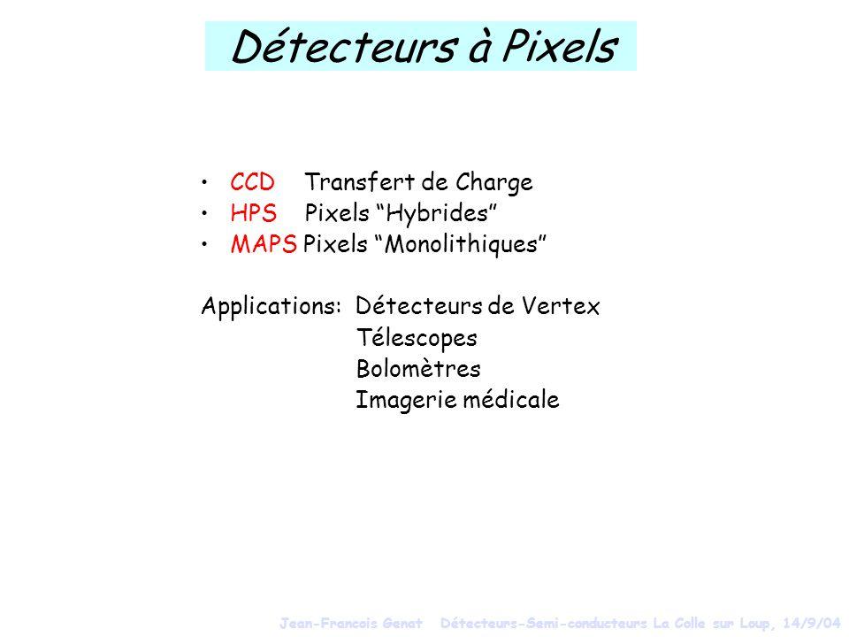 Détecteurs à Pixels CCD Transfert de Charge HPS Pixels Hybrides