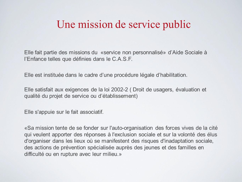 Une mission de service public