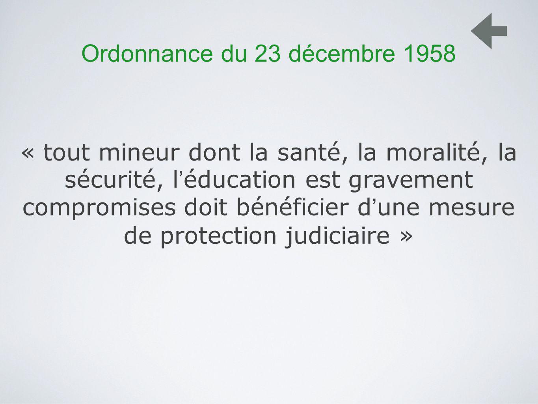 Ordonnance du 23 décembre 1958