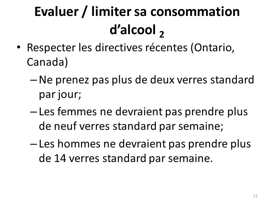 Evaluer / limiter sa consommation d'alcool 2