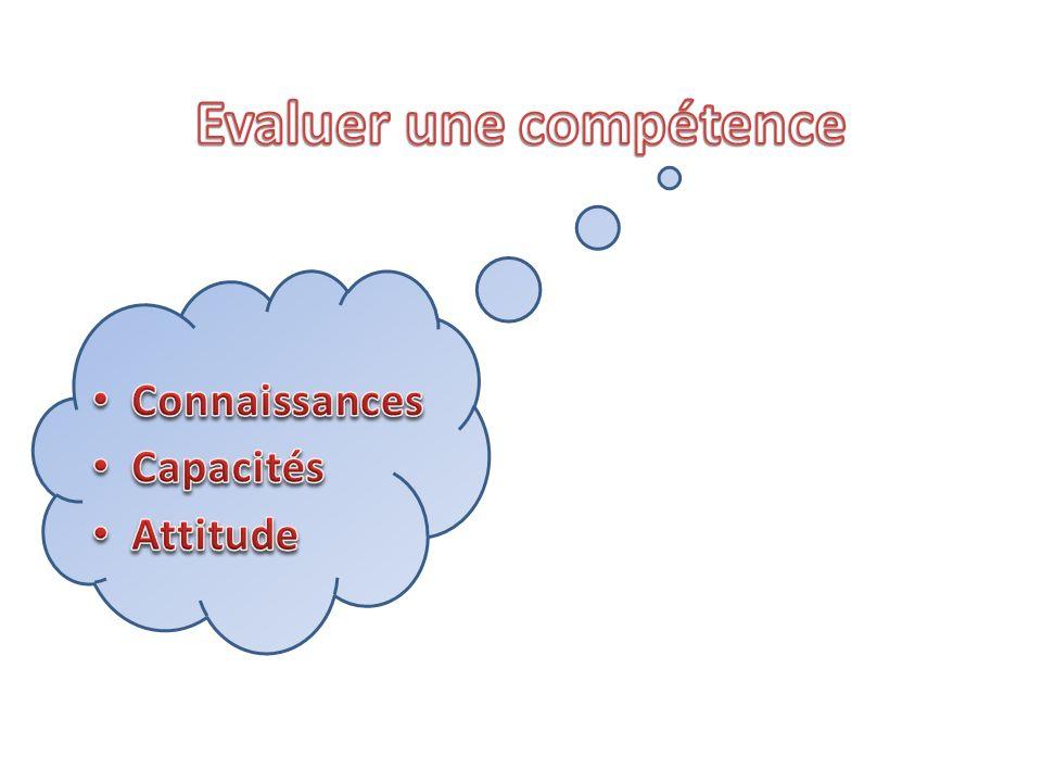 Evaluer une compétence