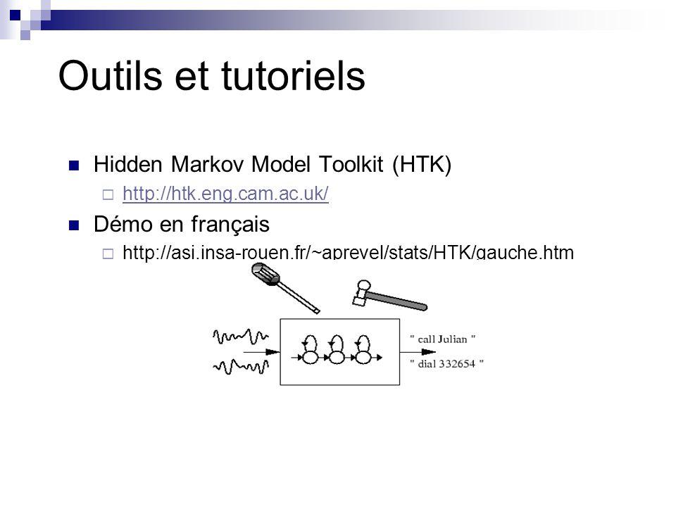 Outils et tutoriels Hidden Markov Model Toolkit (HTK) Démo en français