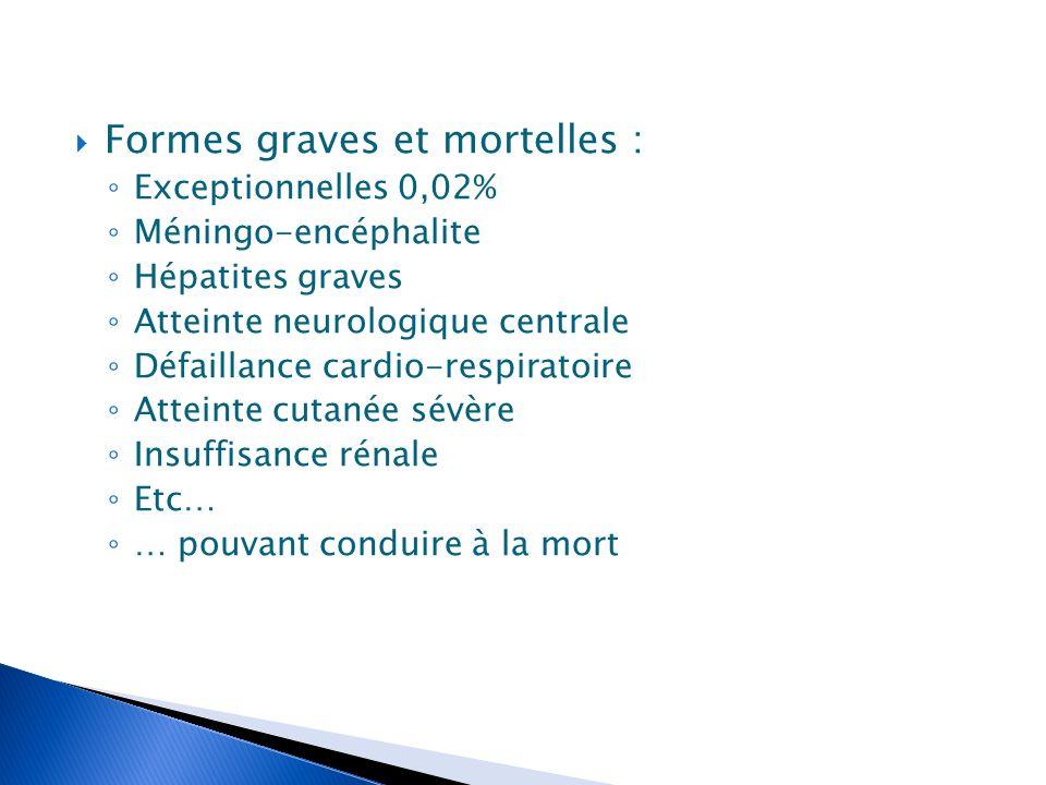 Formes graves et mortelles :