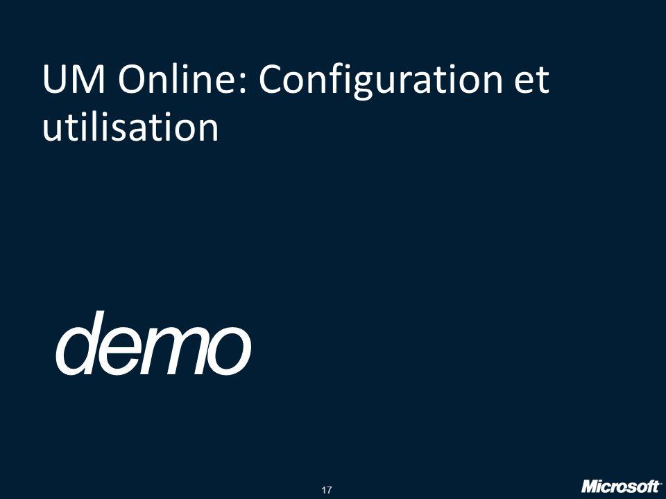 UM Online: Configuration et utilisation