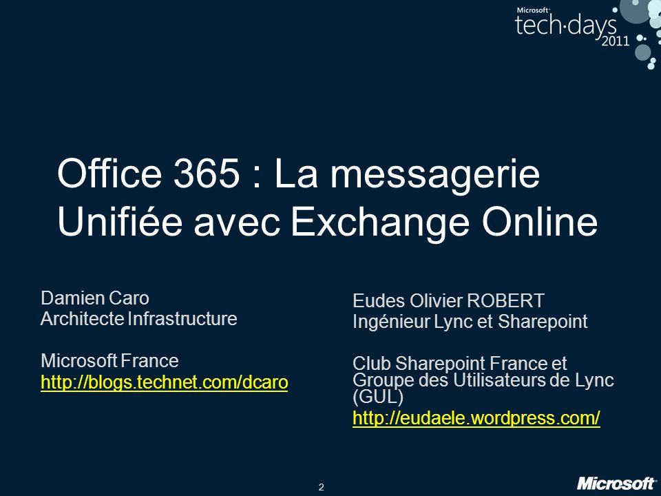 Office 365 : La messagerie Unifiée avec Exchange Online
