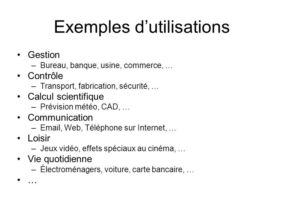 Exemples d'utilisations