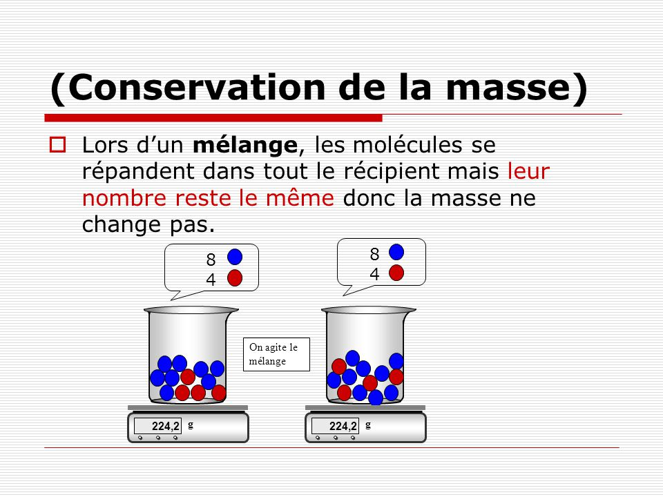 (Conservation de la masse)